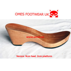 wooden sole heel wedge for clogmaking shoemakers